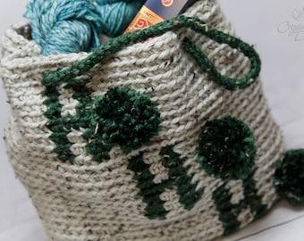 PDF Crochet PATTERN Ho Ho Ho Tote Bag