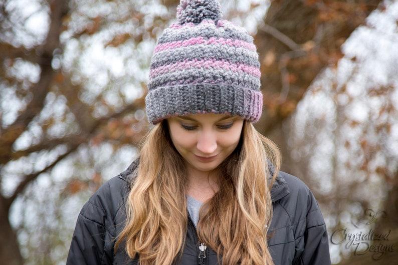 PDF Crochet PATTERN Verity Beanie Slouch Messy Bun Hat image 0