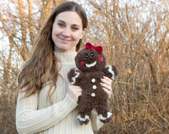 PDF Crochet PATTERN Jaden the Gingerbread Ami