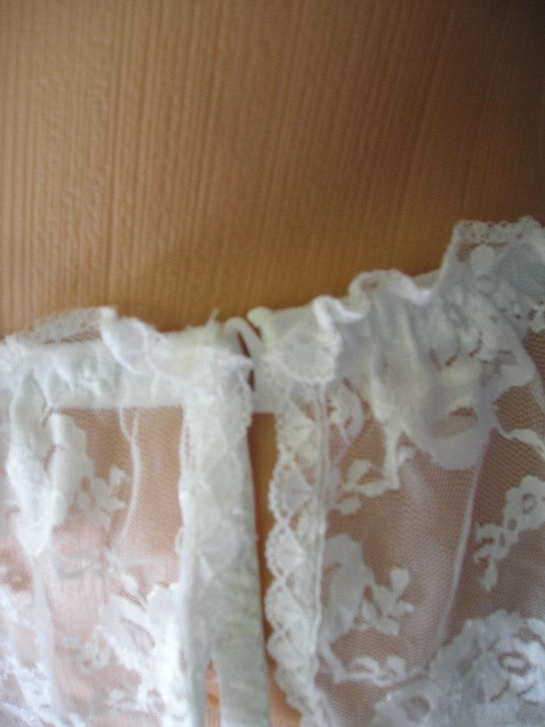 size L Vintage LACE garter belt panties