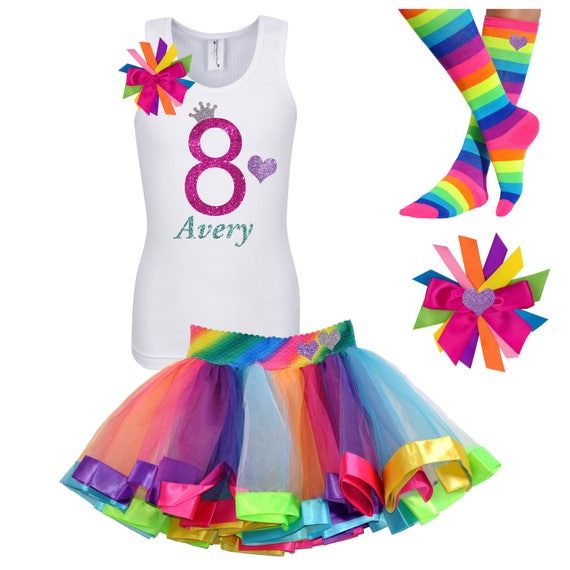 Bubblegum Divas Big Girls Sweet 16 Birthday Rainbow Rhinestone Heart Tank Top