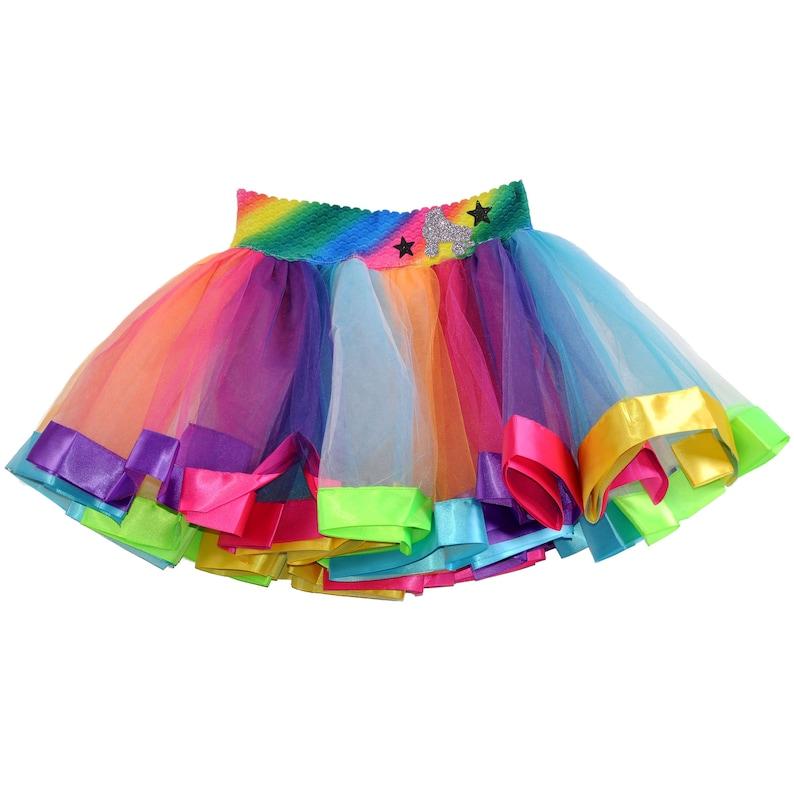 015b07d7ec0f3 Roller Skate Party Rainbow Tutu Skirt Glow Party Roller