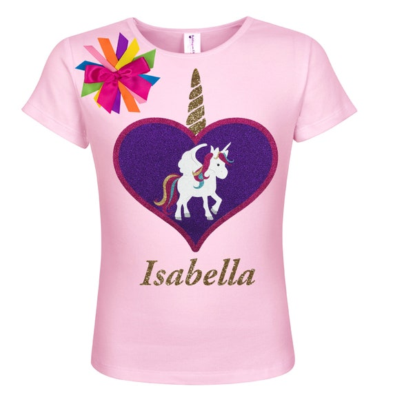 Birthday Princess Sparkly glitter Personalised T-shirt Matching hair bow