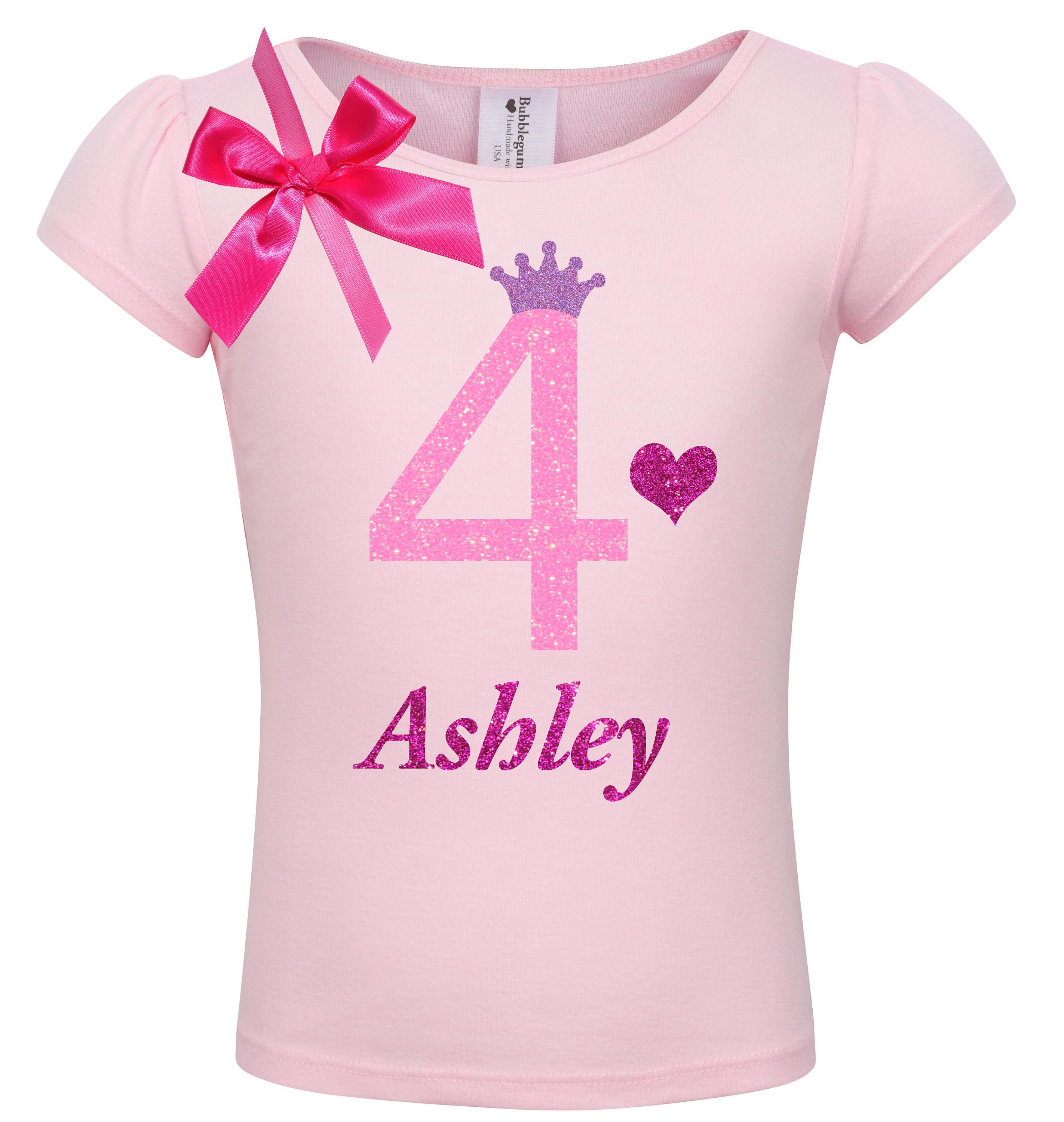 Candle Rainbow Hot Pink Girl 4th Fourth Birthday Tutu Outfit Shirt Set Party