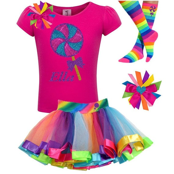 12 4th 5th 3rd 1st 2nd Birthday Outfit Rainbow Birthday Tutu Dress