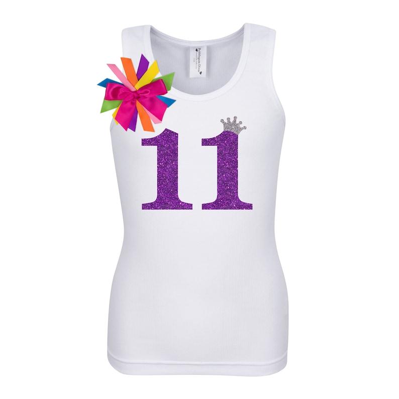 11th Birthday Shirt Tween Girl 11 Year Old Girls Birthday Eleven Personalized Eleventh Tank Top T-Shirt Pur11 Bubblegum Divas