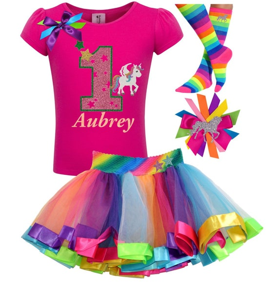 Baby Girl First 1st Birthday Unicorn Outfit Party Dress Tutu Cake Smash Gifts