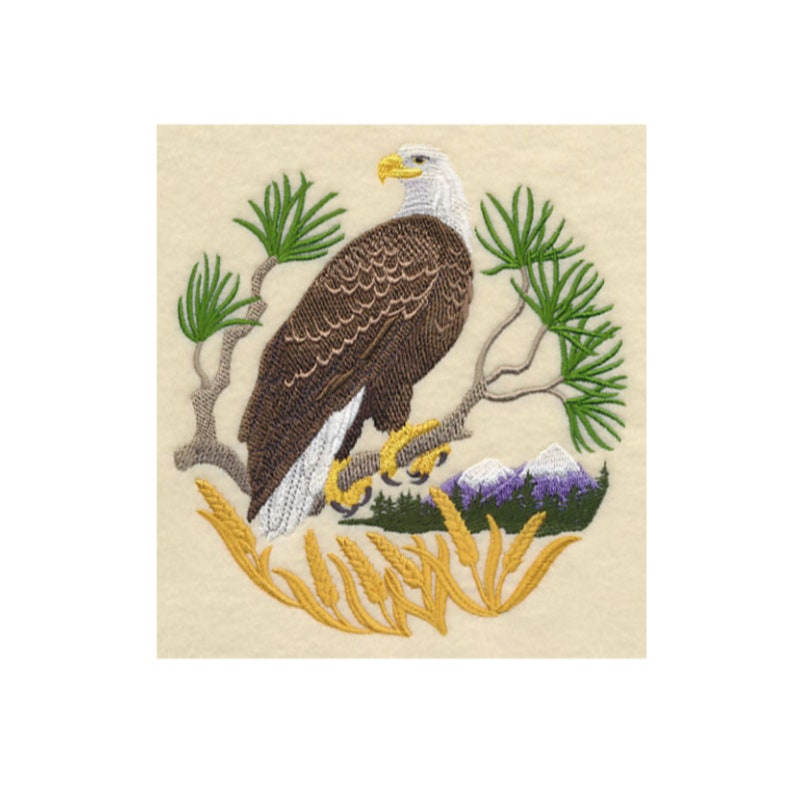 I Will Machine Embroider This Design On To Your Custom Item Eagle Scene
