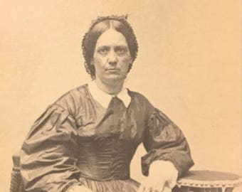 Civil War-era Woman in Mourning Carte de Visite