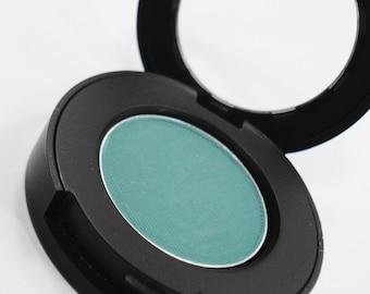 Finn Matte Teal Green Mineral Makeup Eyeshadow  Pressed Compact   Eye Shadow