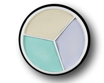 COlor Corrector Trio Corrector Wheel Eye Shadow Primer Pale green Lilac Purple Cover up  Vegan Ivory Concealer
