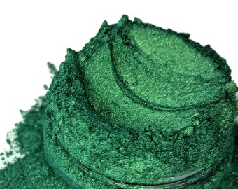 Arsenic Green Hunter Evergreen  Mineral Eye Shadow 5g Sifter Jar Gray eyeshadow Vegan Natural mineral Mica Makeup