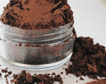 Scorched Mineral  Makeup  Chocolate Brown Eye Shadow  10g Sifter Jar Smokey Eyes Eyeshadow