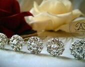 Bridal hair pins, wedding hair pins, crystal hair pins, rhinestone hair pins, rhinestone bridal hair pins, crystal bridal hair pins