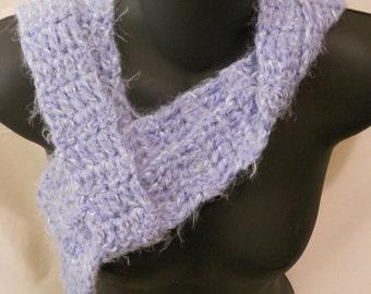 Light Blue Crochet Scarf