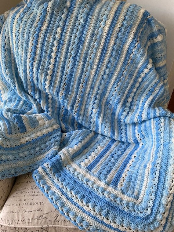 Adult size Crochet blanket, 3 sizes, variegated soft QUALITY yarn, Custom unique cable design, your choice of colors, lap Afghan, full throw