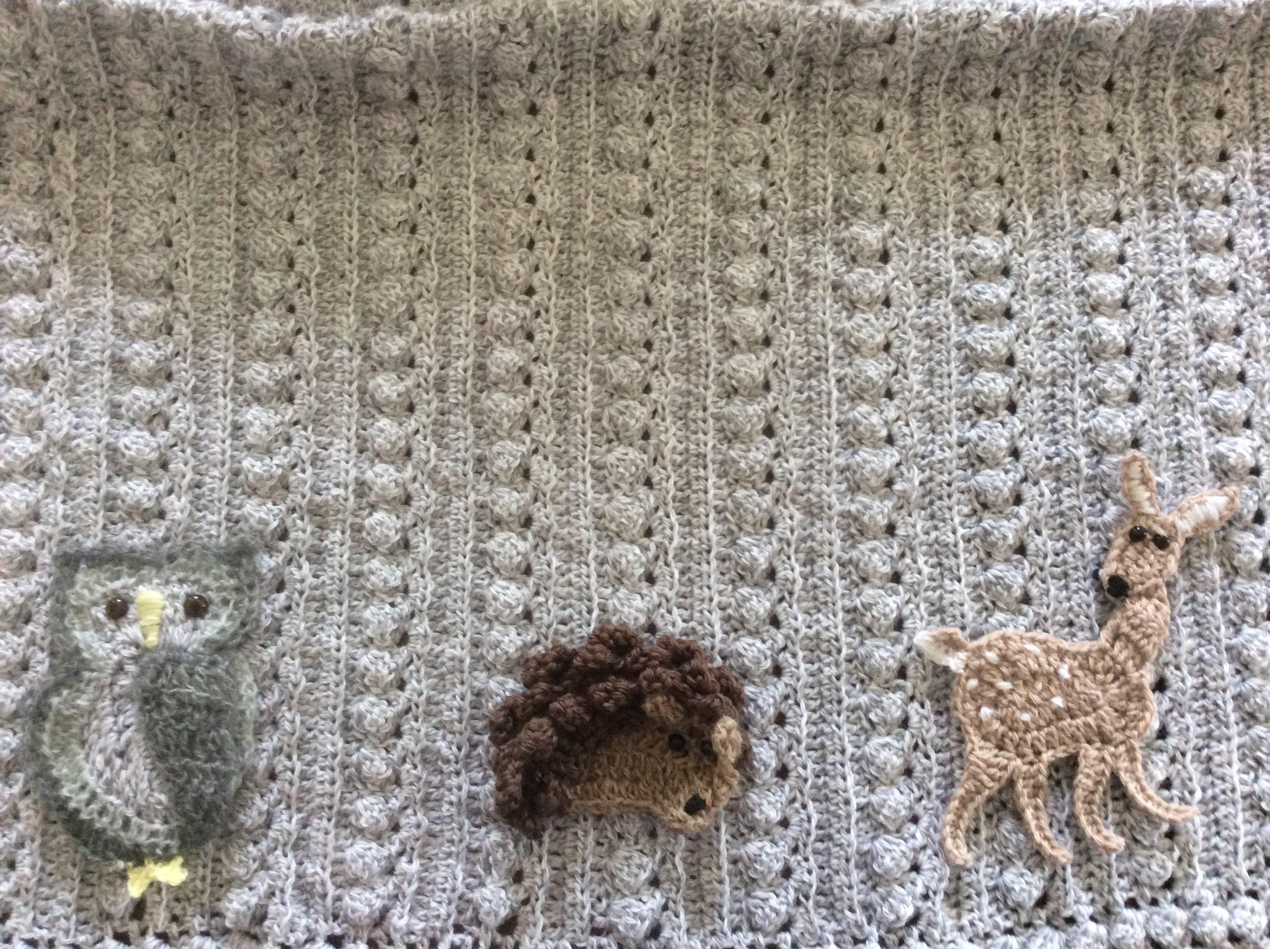3493490a4 Crochet animal baby blanket,Woodlands,owl,fox,Fawn,deer, rabbit ...