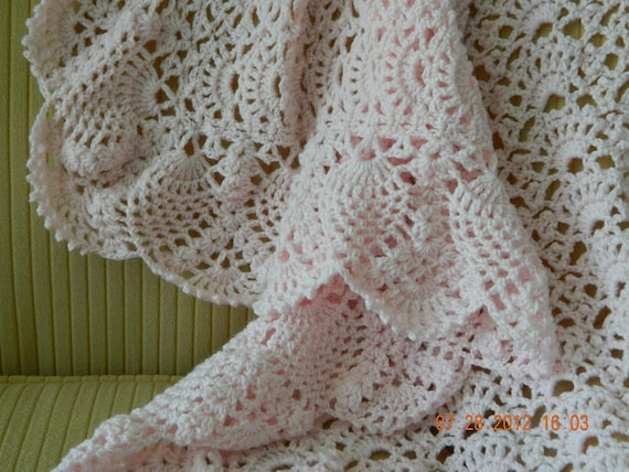 Precious Pineapple Baby Blanket Pineapple Lace Blanket White Baby Blankets Baby Shower Gifts