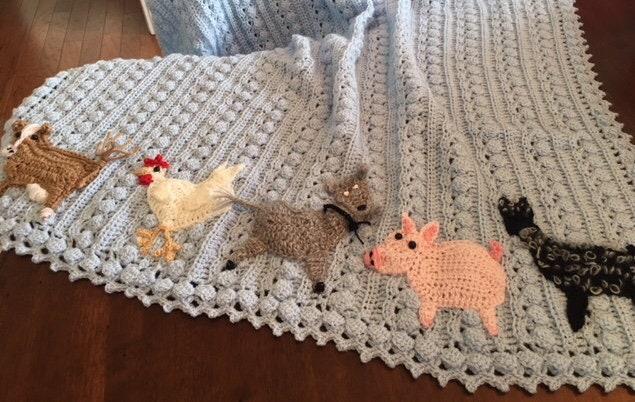 Crochet Duck Blanket Original Baby Tuckers Design Farm