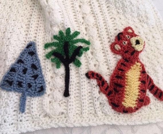 Crochet Winnie the Pooh Disney baby blanket, Tigger, Eeyore, Piglet, Kanga/Roo, Owl,Rabbit, Christopher Robin, Original Baby Tuckers design