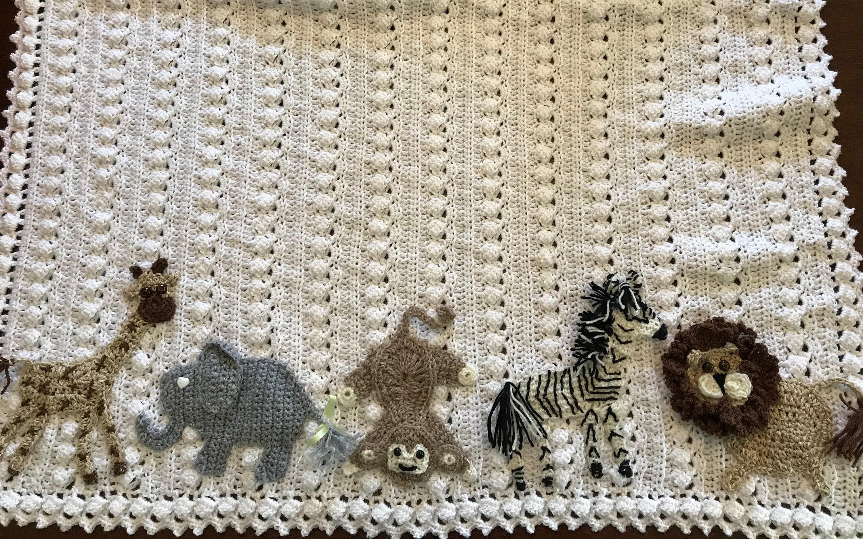 Crochet Baby Blanket Safari Jungle Woodland Zoo Nautical
