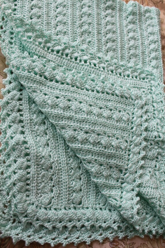 Baby Blanket Crochet 3 Sizes Cable Design Super Soft Etsy