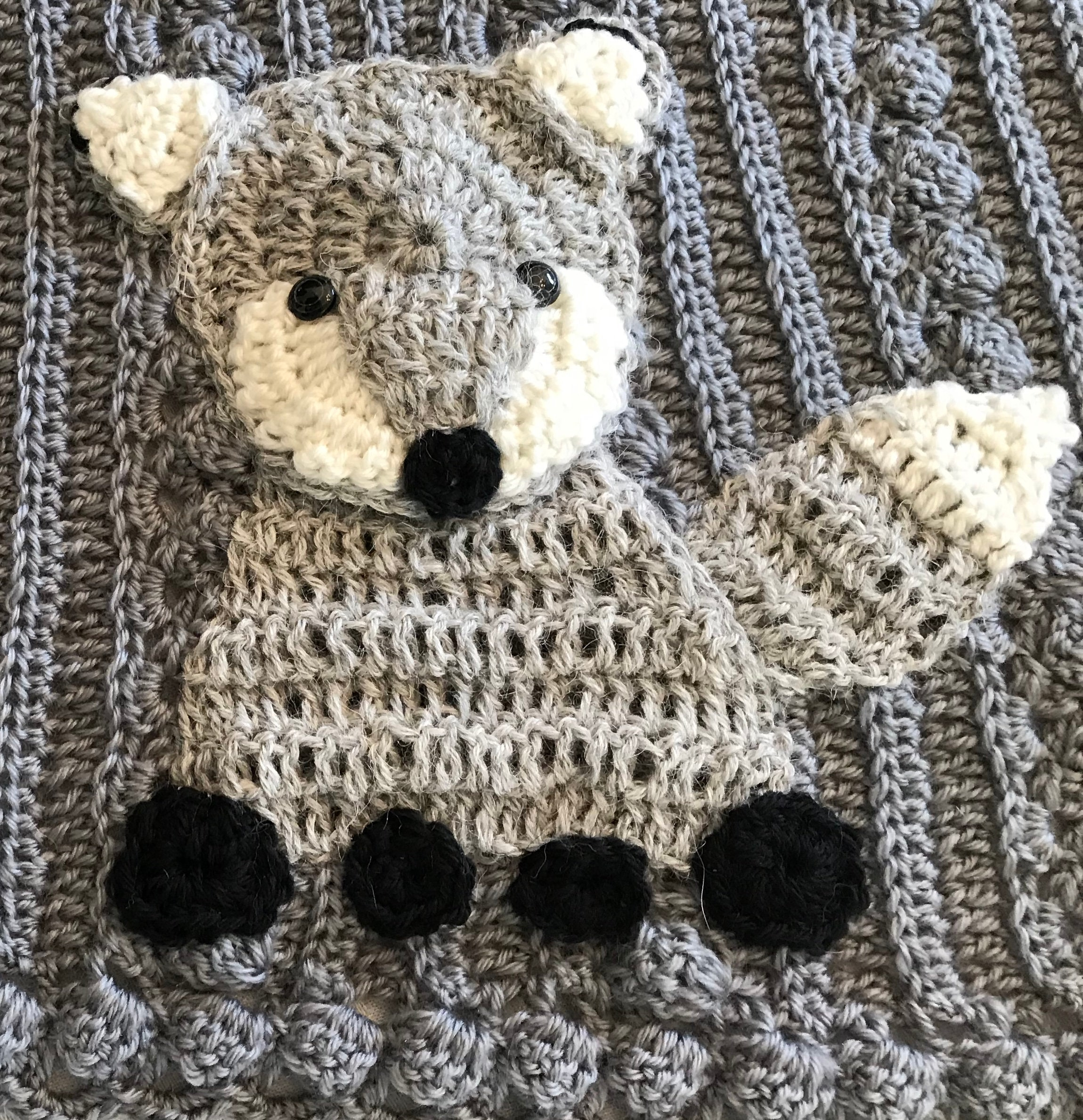 Crochet Baby Blanketfox Lovey Security Blankie Farmsafarizoo