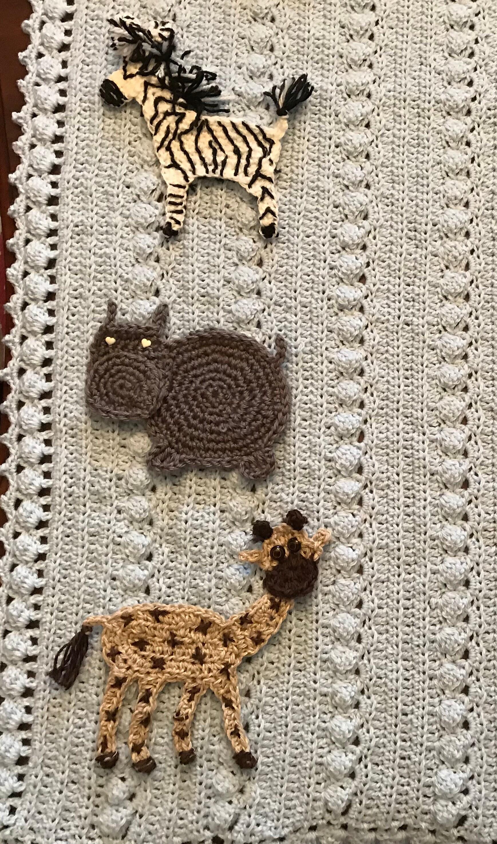 Crochet Animal Baby Blanket Safari New Baby Tuckers Design Jungle