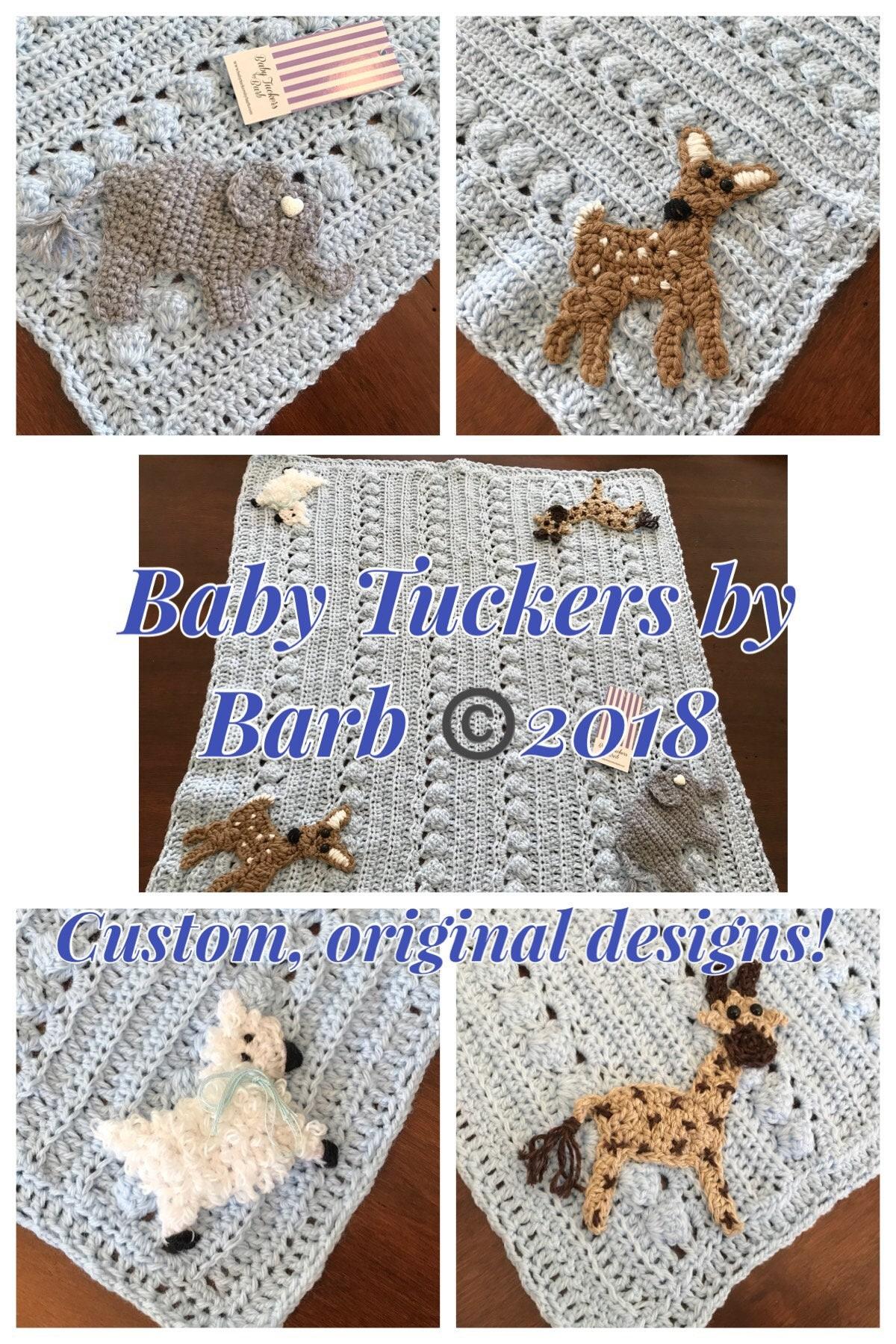 Crochet Animal Blanketfawnelephantlambgiraffeoriginal Baby
