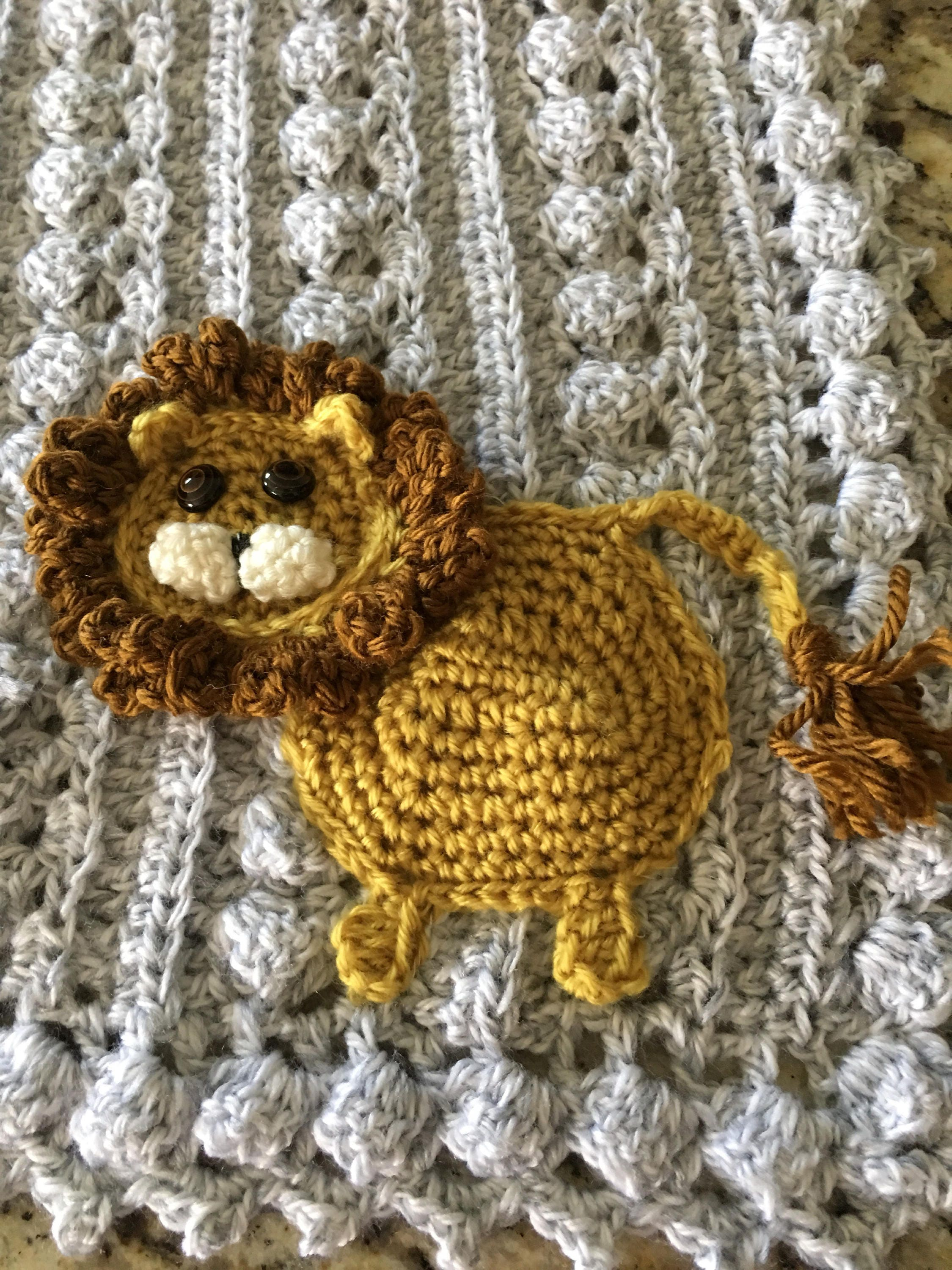 Crochet Animal Baby Blanket Safari Farm Arctic Jungle