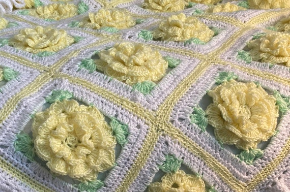 Texas yellow rose blanket, Baby Tuckers original design, many color choices, baby shower, gift, Christening, Birthday, Anniversary