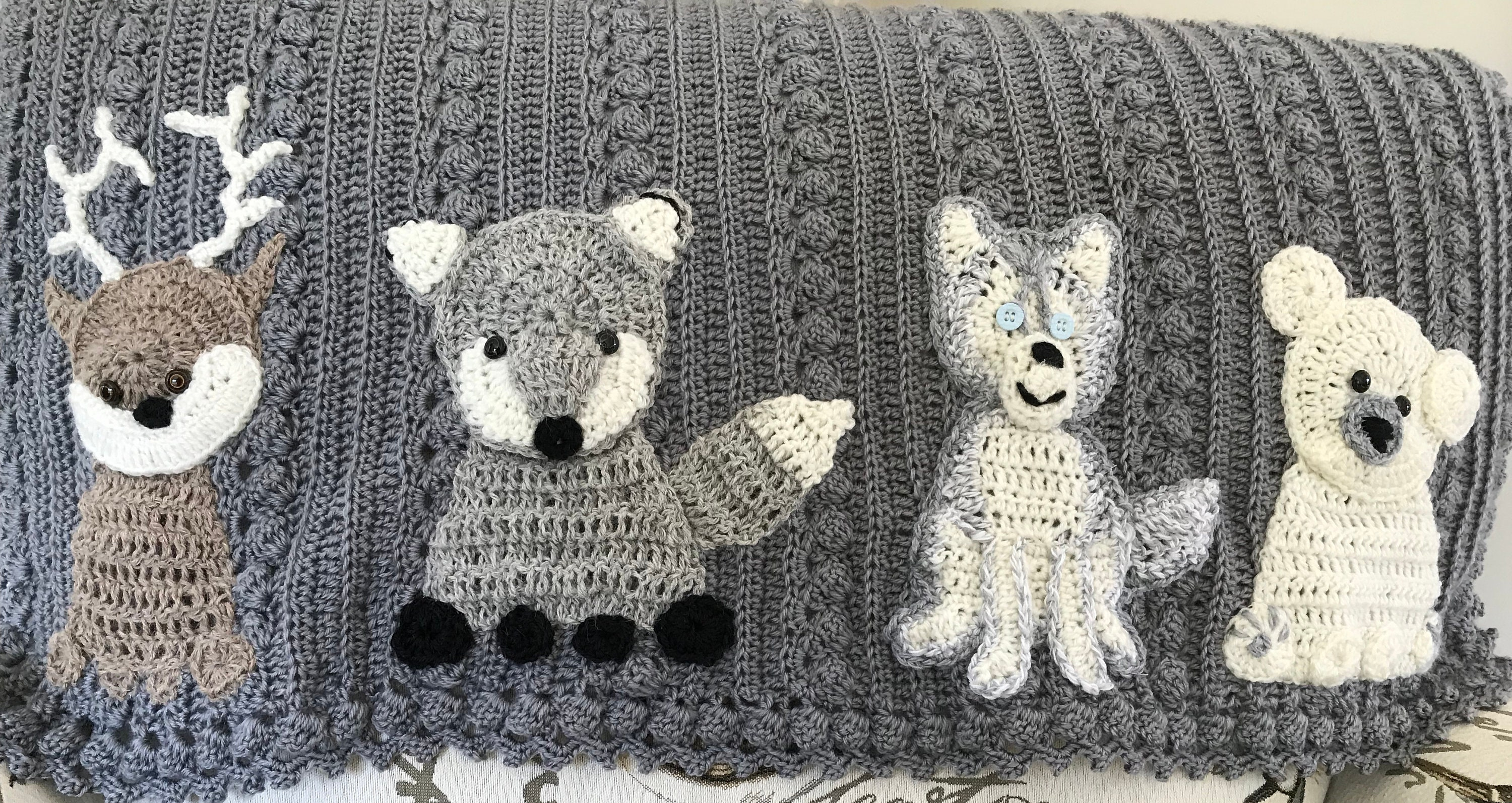 Crochet Husky Dog Lovey Baby Blanketsecurity Blankie Farmsafari