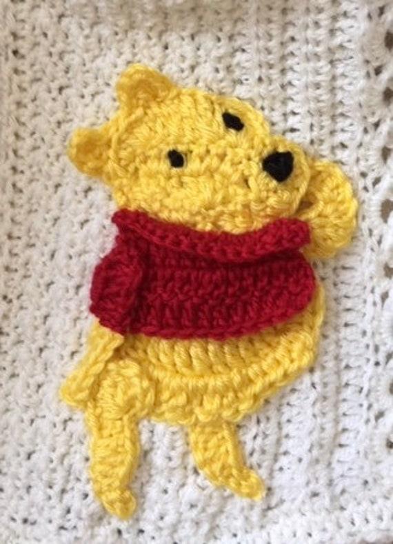 Disney crochet baby blanket,Pooh,Tigger, Eeyore,Piglet,Roo,Kanga, Owl,Rabbit, New Baby Tuckers design,baby gift/Choice of colors/appliqués