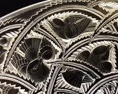 Rene Lalique Designed Pinsons Finches Glass Centerpiece Bowl, Great Condition