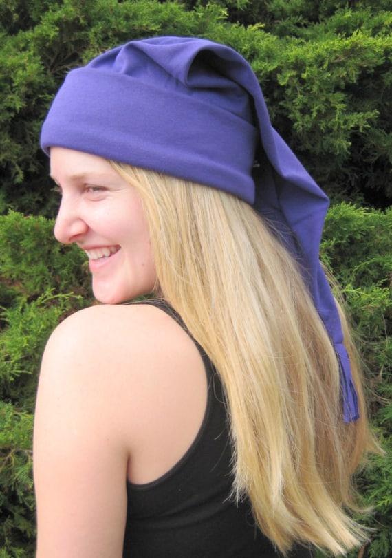 SCHLAFMÜTZE lila Piraten Baumwolle stricken Erwachsenen Größen   Etsy