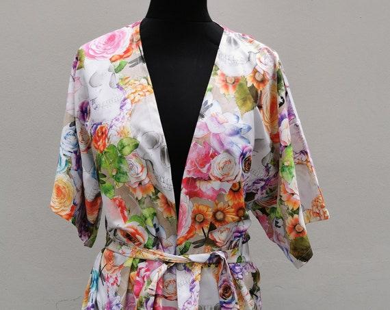 Kimono 'Skullflower'