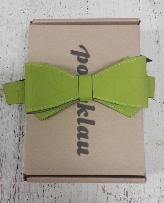 Kunstlederfliege 'Netz' Braun und Grün