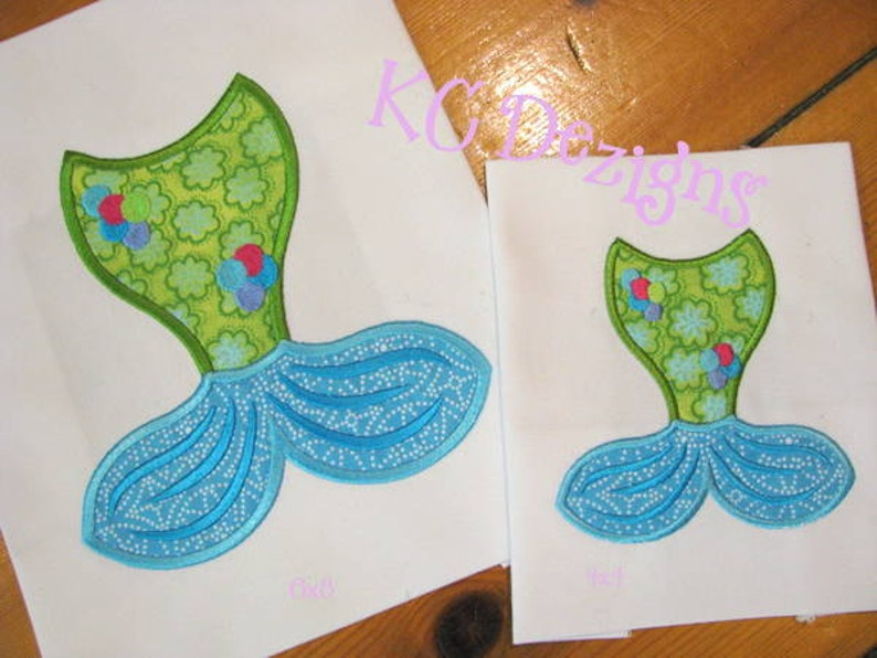 Mermaid tails machine applique embroidery design mermaid etsy
