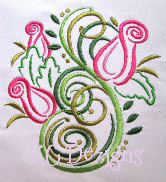 Outline Roses Machine Embroidery Design Outline Roses Etsy