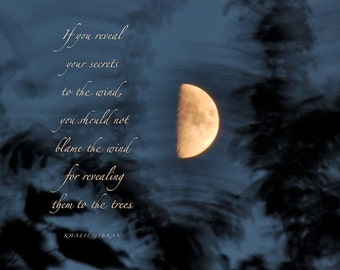 Rumi Quote With Full Moon Moon Love Quote Golden Moon Tree Etsy