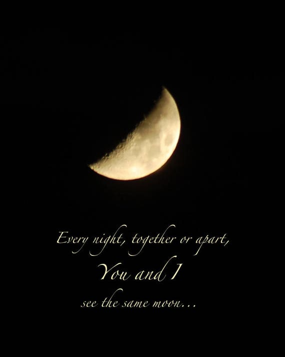 You And I Moon Photo Quote Night Sky Print With Quotation Etsy