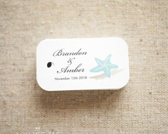 66675189894f Beach seaside theme Wedding Favor Tags - Beach Gift Tags - Starfish Thank  you tags - Beach Wedding Favor Tags - Set of 30 (Item code  J240)