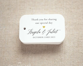 personalized favor tags wedding invitation by smilingtag on etsy