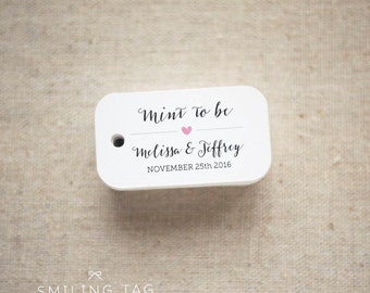 Mint To Be Wedding Favor Tags - Personalized Gift Tags - Custom Wedding Favor Tags - Bridal Shower Tags - Set of 30 (Item code: J517)