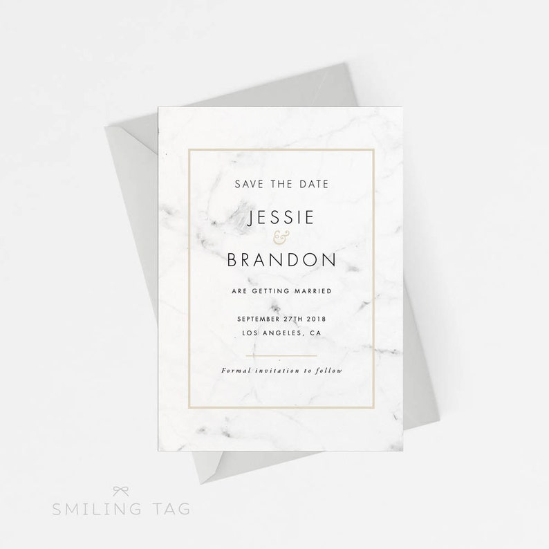 graphic regarding Printable Save the Dates known as Marble Printable Preserve The Day Printable, Revolutionary Stylish Marble Help you save the Day Printable, Marriage Invitations, Letter or A4 Dimension (Product or service code: P375)