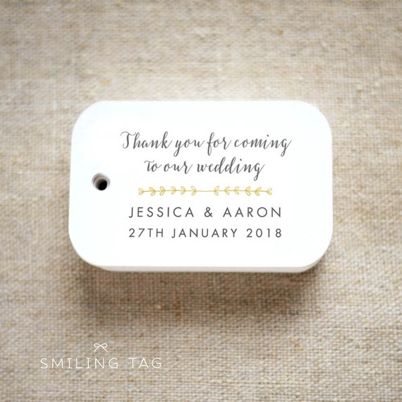 Romantic Modern Wedding Thank you for coming to our wedding | Etsy
