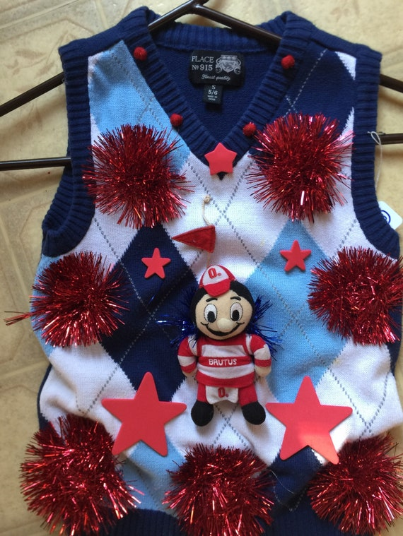 Award Winner Womans Ohio State Ugly Christmas Sweater Boys Etsy