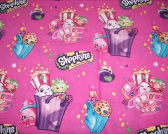 REMNANT-5/8 yd-cotton fabric-Shopkins