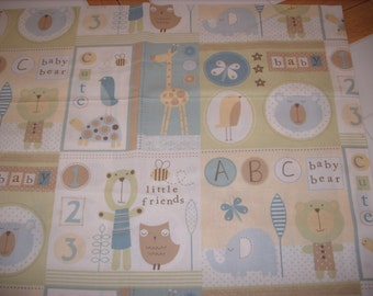 REMNANT-1/2 yard cotton fabric- baby