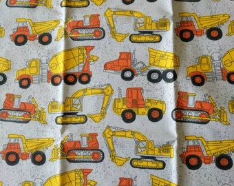 Construction trucks travel pillowcase